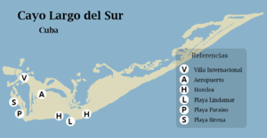 Cayo Largo del Sur - Image: Mapa de Cayo Largo