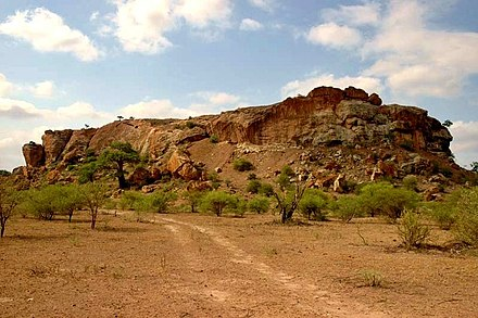Mapungubwe Hill, the site of the former capital of the Kingdom of Mapungubwe MapungubweHill.jpg