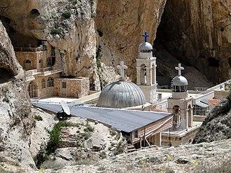 Maaloula - Image: Mar Takla monastery 01