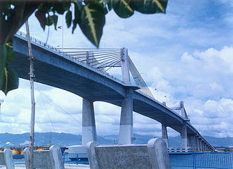 Mactan Channel - Marcelo Fernan Bridge, as seen from Mactan Island)