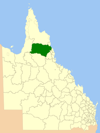 Shire of Mareeba - Location within Queensland