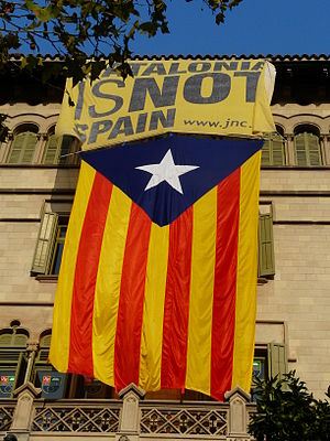 Estelada - The estelada is the Catalan separatist flag