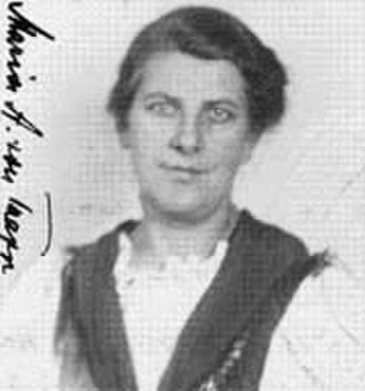 Maria von Trapp - Photo from Declaration of Intention, 21 January 1944