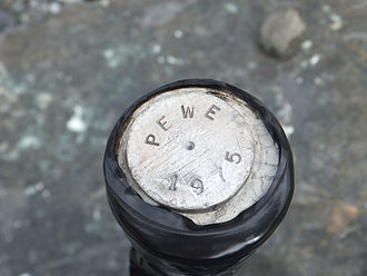 "Gulkana Glacier - A post labeled ""PEWE 1975"" marks a hill just southwest of Gulkana Glacier."