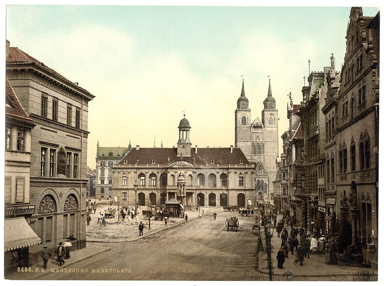 Market place, Magdeburg, Germany Saxony-Anhalt, Germany-LCCN2002720636.jpg