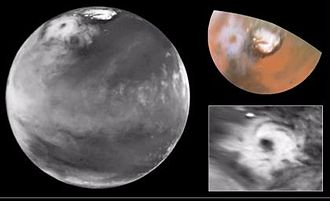 Cyclone - Cyclone on Mars, imaged by the Hubble Space Telescope