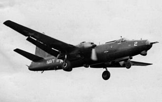 Martin P4M Mercator - P4M-1Q Mercator of VQ-2 electronics reconnaissance squadron in September 1956 - note extra radar 'bulges' on this variant