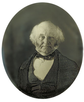 1848 Free Soil & Liberty national Conventions - Image: Martin Van Buren daguerreotype restored