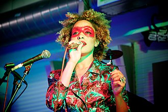 Maxinquaye - Martina Topley-Bird (pictured in 2010), the predominant vocalist throughout Maxinquaye