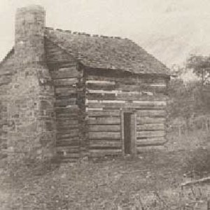 Mary Draper Ingles - Log cabin next to the New River, near present-day Radford, Virginia, where Mary Draper Ingles and her husband William lived out their lives. Photo c.1890
