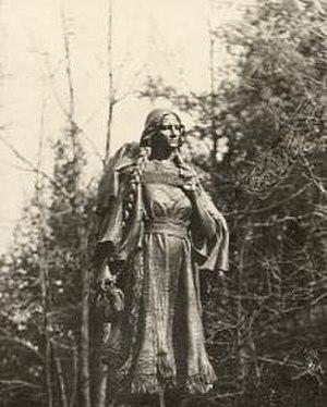 Mary Jemison - Statue of Jemison in upstate New York. 1910 photo