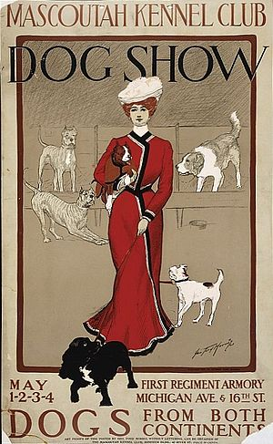 Kennel club - 1901 poster advertising a dog show at the Mascoutah Kennel Club.