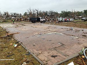 Tornadoes of 2013 - A home swept clean off its foundation after an EF4 tornado struck Granbury, Texas.