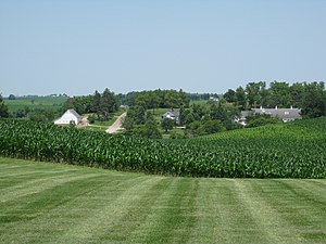 Newton, Iowa - View of Maytag Dairy Farms from the visitor center.