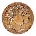 Medalj med Napoleon I och Marie-Louise i profil, 1811 - Skoklosters slott - 99305.tif