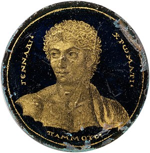 Gold glass - Image: Medallion with a Portrait of Gennadios MET DP325825 (cropped)
