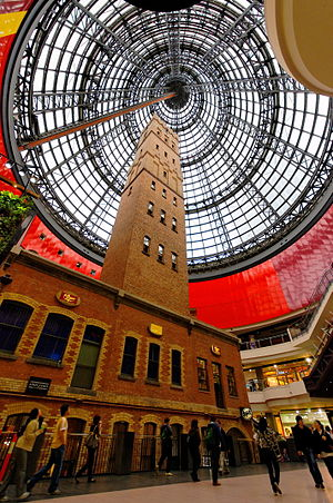 Melbourne Central Shopping Centre - Image: Melbourne Central Coops Shot Tower
