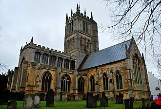 Melton Mowbray - Melton Mowbray's imposing St Mary's church