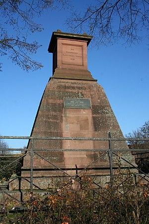 Battle of Seckenheim - Image: Memorial Battle of Seckenheim 1
