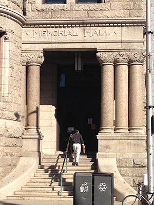 Pollard Memorial Library - Image: Memorial hall entrance to Pollard Memorial Library