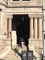 Memorial hall entrance to Pollard Memorial Library.jpg