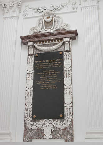 Teylers Stichting - Memorial to the first Directors of Teylers Stichting in the Oval Room, 1784