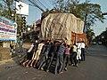 Men Pushing Loaded Truck - Phulbagan - Kolkata 20180223161038.jpg