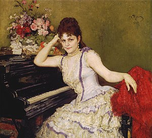Sophie Menter - Portrait by Ilya Repin.