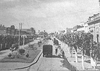 Merlo, Buenos Aires - Avenida Ituzaingó (today the Avenida del Libertador San Martín), Merlo's main street, around 1950.