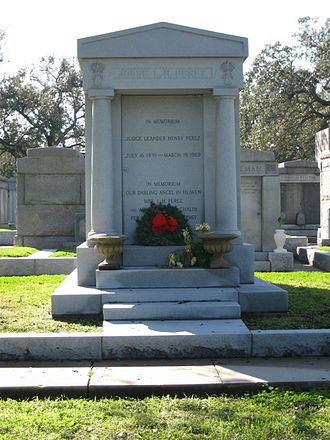 Leander Perez - Leander Perez tomb in Metairie Cemetery, New Orleans