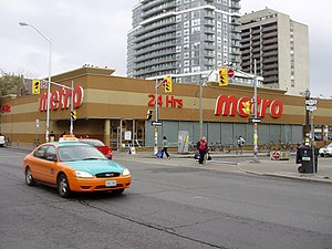 Metro Inc. - A 24-hour Metro store in Toronto at Bloor and Robert Streets.