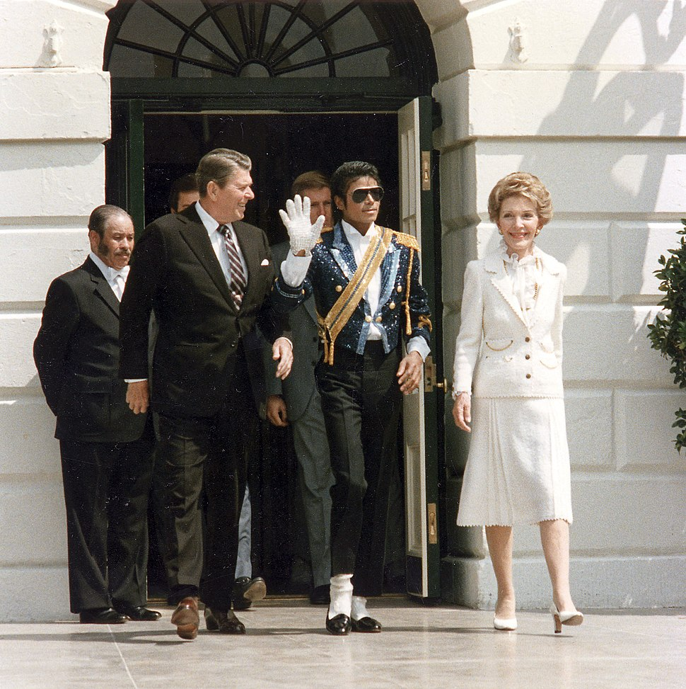 Michael Jackson with the Reagans