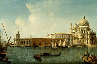 View of the Dogana and Santa Maria della Salute