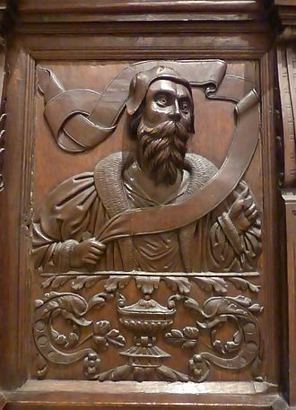 Laird - Carving believed to depict a 16th-century Scottish laird