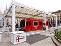Milano - piazza del Duomo - simulacro treno Leonardo.jpg