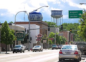 Miles City, Montana - Main Street in Miles City