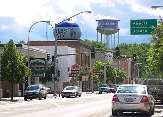 Miles City, Montana - Main Street in Miles City