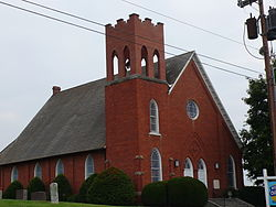 The Mill Creek Baptist Church in Troutville, Virginia.