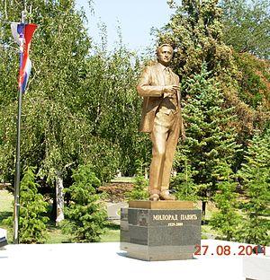 Milorad Pavić - Monument to Milorad Pavić in Tašmajdan Park, Belgrade.