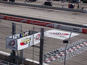 Milwaukee Mile - Image: Milwaukee Mile Start Finish Line