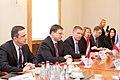 Ministru prezidents Valdis Dombrovskis tiekas ar Francijas satiksmes ministru Tjerī Mariāni (6748211361).jpg
