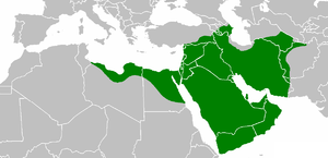 Islam in Palestine - ʿUmar ibn al-Khattāb's empire at its peak, 644