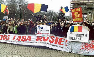 History of independent Moldova - Demonstrations in Chişinău in 2003