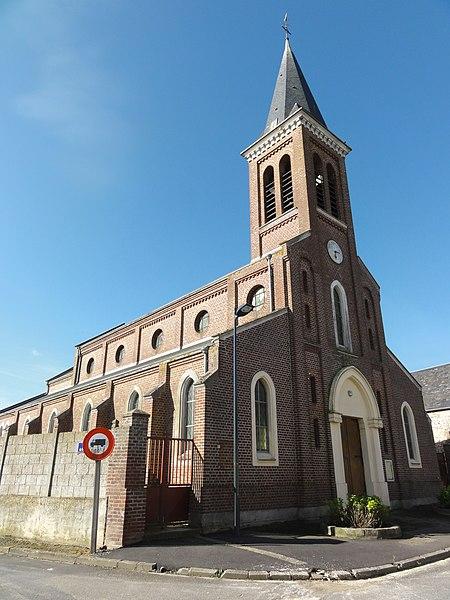 Monceau-le-Waast (Aisne) église