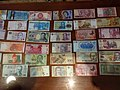 Money from around the world, paper money bills.jpg
