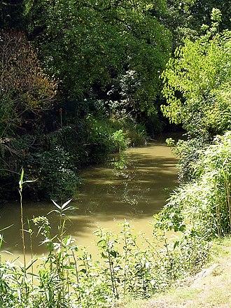 Midou - The Midou in Mont-de-Marsan downriver of the donjon Lacataye