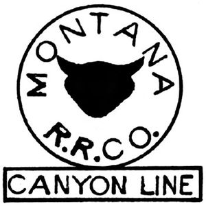 "Montana Railroad - Corporate ""cowshead"" logo of the Montana Railroad, from an 1899 system map."