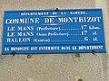 Montbizot (Sarthe) plaque de cocher identifiant communal.jpg
