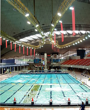 Venues of the 1976 Summer Olympics - Montreal Olympic Pool in 2008.