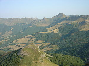 Mounts of Cantal - Landscape of the mounts of Cantal